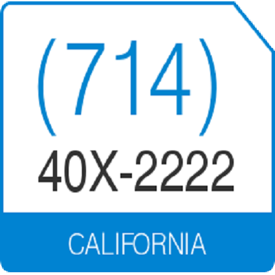 US Local Phone Number 1-714-40X-2222