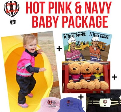 Hot Pink & Navy Jumpsuit Baby Package