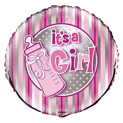 18'' Foil It's A Girl Baby Shower Balloon