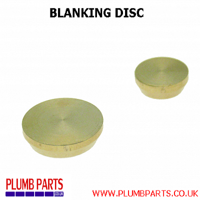 BLANKING DISC  (BRASS FITTINGS)