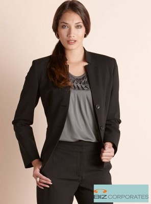 Comfort Wool Short Jacket with Reverse Lapel |Product Code-64013|