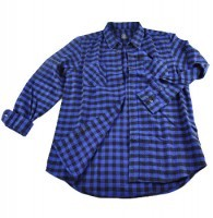 Navy Blue Checked Flannel Shirts