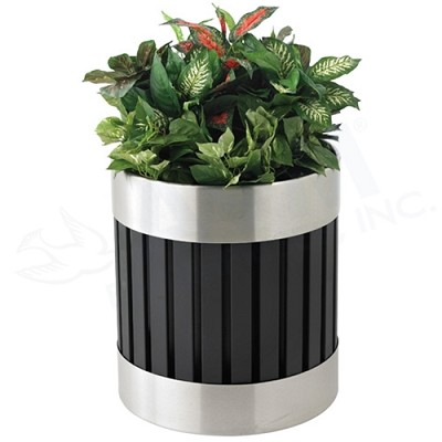 Riverview Planter - Black and Stainless Steel