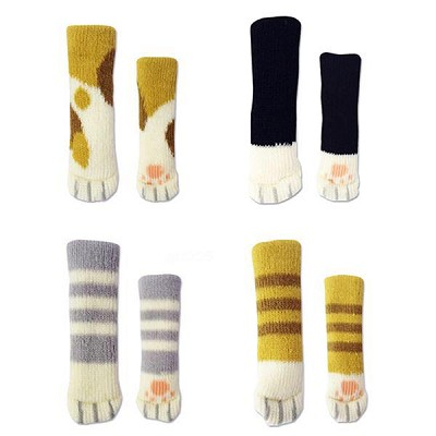 Scratch Me Not Cat Socks for Chairs 4pc Set Available at Crazycatshop with 70% Discount and Free Shipping