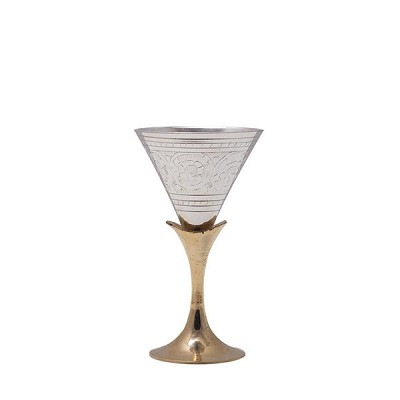 Conical Brass Goblet Glass
