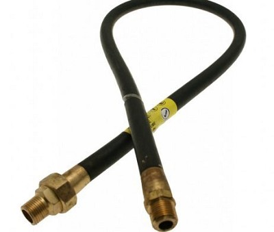 Nut And Union Cooker Hose 4Ft | Gas Hoses | Plumbparts.co.uk