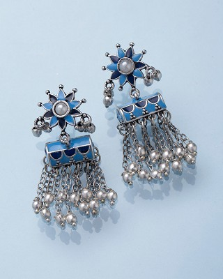 Azure Tassled Earrings