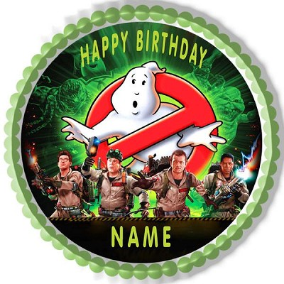 GHOSTBUSTERS Edible Birthday Cake Topper OR Cupcake Topper, Decor - Edible Prints On Cake (Edible Cake &Cupcake Topper) GHOSTBUSTERS Edible Birthday Cake Topper OR Cupcake Topper, Decor GHOSTBUSTER