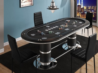 Oval Poker Table With Stainless Steel