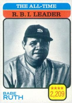 Get 1973 Topps #474 Babe Ruth/All-Time Rbi Leader Card From Beckett.com