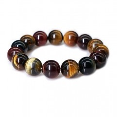 Multi colour tiger eye bracelet natural crystal bracelets