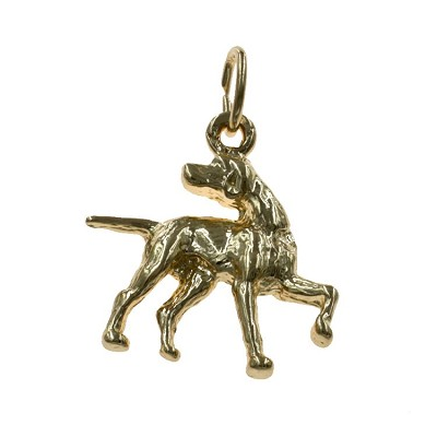 Solid 925 Sterling Silver Dog Charm