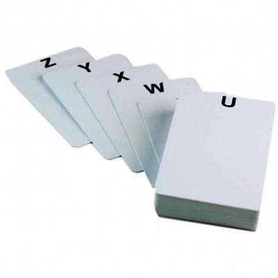 A-Z Plastic Cards for Badge Trays