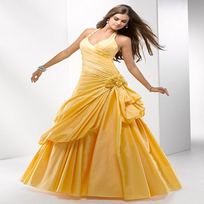 gold ball gowns from Pickedlooks.com