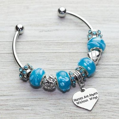 Charm Bracelet ''Nurse Are Angels Without Wings''
