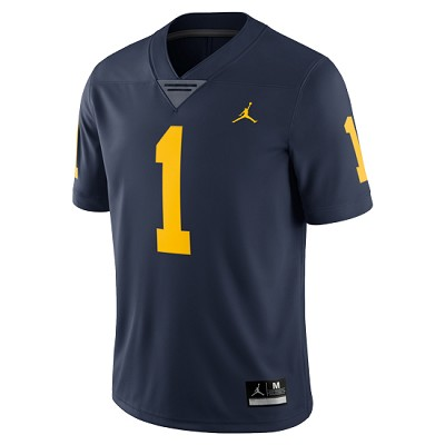 Jordan University of Michigan Football Navy #1 Limited Jersey
