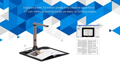 MEGASCAN PRO X7 | SMART AUTOMATIC HIGH SPEED BOOK CAMERA SCANNER