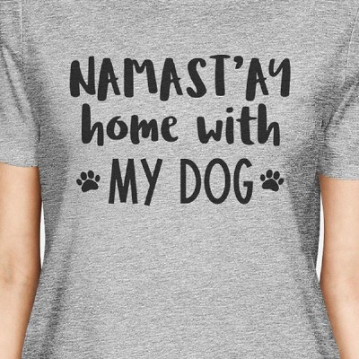 Namastay Women's Gray Graphic Cotton Tee